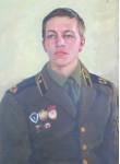 Молодой солдат. 70х50см.х.м.1977г.