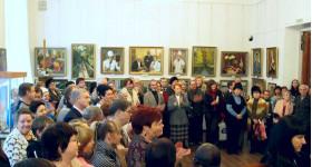 На открытии выставки Елены Ивановны Штефан