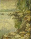 Озеро Оргази.   25х20 см. к.м.1970г.