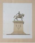 Проект памятника М.Д.Скобелеву.  в Ильинском сквере г. Москвы.  вид сбоку.
