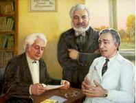 Портрет врачей Баулиных. 70х90 см. х.м. 2008-2009г.г.