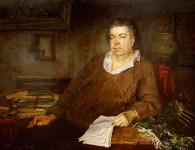 Филатов В.В.    Портрет О.М. Савина.  1994г , Х.м., 100х130 см.