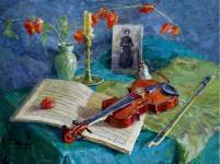 Скрипка. 60х80см. х. м. 2008г.
