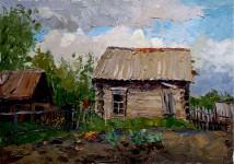В Свещёвке 35х50см. х. м 2008г  Вилкова.Е.