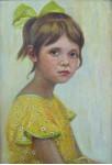 Внучка Оля. 40х50см. х.м. 1985г.