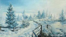 Зима х.м. 40х80см.