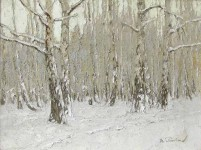 Зимняя тишина.  46х60см. х.м. 2006г.