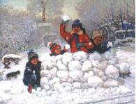 Зимние каникулы. 77х95см. х.м. 1987г.