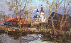 А Вилков  На реке Трубеж  40х65 хм 2011г.