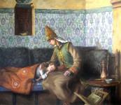 Царица Сююмбикэ и царевич Утэмеш. х.м. 2007 г. 73 х 88 см. Акжигитов И.