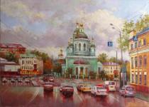 Никитский К.  Андроньевская площадь.  х.м. 50х70 см. 2013 г.