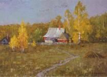 Е Вилкова  среди приветных деревень  50х70 хм 2009г.
