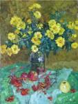 Е Вилкова  цветы и рябинка  80х60 хм 2008г.