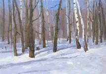 Е Вилкова   В лес пришла весна 35х50 хм 2011г
