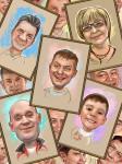 шаржи-портреты
