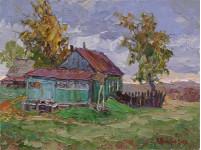 На краю села 30х40см. х. м. 2009г.