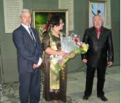 Открытие выставки Поповых