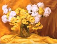 Плаксин М. Жёлтый букет. х.м. 40х60 см. 2012 г.