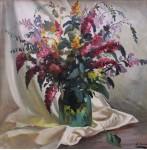 """""""Полевые цветы"""" х /м 54х54см.1997 г. Шапов В.А."""