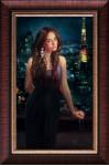 Никитский Константин. Портрет на фоне ночного города. х.м. 40х70 см. 2014