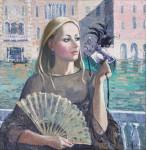 Венеция.  орг.м 76х76 см.