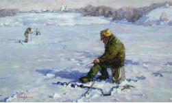 Зимняя рыбалка. 60х100см. х. м. 2009г.