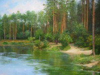Озеро Вядь. х.м. 60х80 см.2007г. Попова.И.