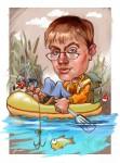 Шарж рыбака
