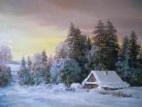 """""""Зима"""".     х.м. 50х80см.     Седлецкий В.И."""