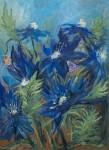 """ Синие цветы"" х.м. 50x70см 207г"